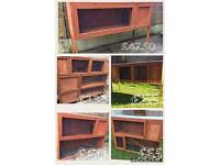 Hand made rabbit hutch 4 ft x 3 ft