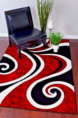 - RUGS AREA RUGS CARPETS 8x10 RUG FLOOR BIG RED MODERN LARGE COOL LIVING ROOM RUGS