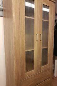 Oak Display Cabinet - as new