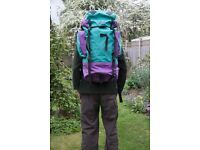 Wynnster 60 litre Rucksack for Serious Backpacking
