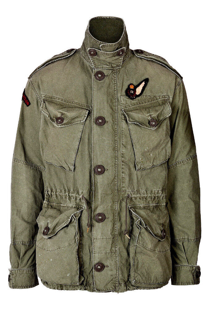 2df514a9b Polo Ralph Lauren Cotton Embroidered Army Military Combat field Jacket NEW  RRP£349.00