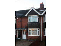 Two bed mid-terrace with large garden and potential to extend.