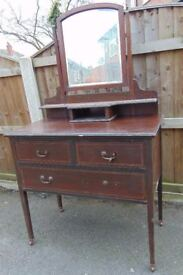 mahogany regency style dressing table chest of drawers perfect project