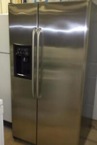 WORKING GE STAINLESS SIDE BY SIDE / ICE WTR 36X69
