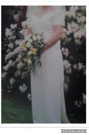 Ivory Straight Classic Wedding Dress