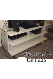 Ikea White TV Television Unit Stand