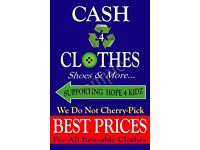 Cash 4 Clothes (Shoes,Toys & More...) B£ST PRIC£S, Supporting (Charity)Hope 4 Kidz, Free Collections