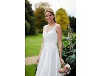 Tiffanys Bridal Floral Wedding Dress in Ivory size 20