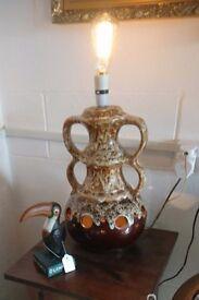 Retro Large West German fat lava lamp.