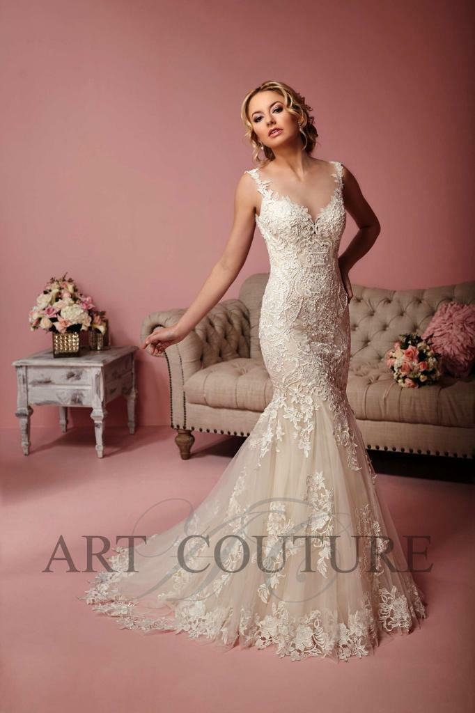 Eternity Bridal Art Couture Fishtail Wedding Dress