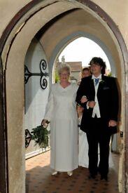 Cream Long dress and Jacket