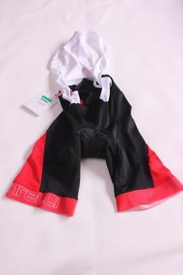 New Castelli Men's Velocissimo Bib Shorts Black/Red 2XL Bike