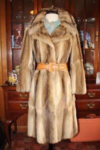 Adorable BASSARISK~ Rock Sable~ Ringtail Cat Fur Coat  4/3 Length Womens S M 6/8