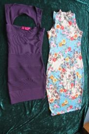2 lady's size 8 dresses includes Boohoo bodycon dress