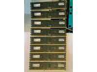 32 x 16GB 1600 DDR3 ECC RAM Server Memory PC3-12800R