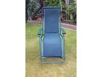 Garden recliner Chair padded cover