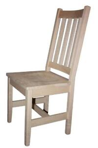 Mennonites Handcrafted Solid Maple Wood Shaker Dining Chair Kits - FREE SHIPPING