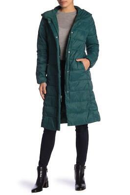New with Tag - $260 Cole Haan Pine Hooded Knee Length Puffer Coat Size XS Knee Length Nylon Coat