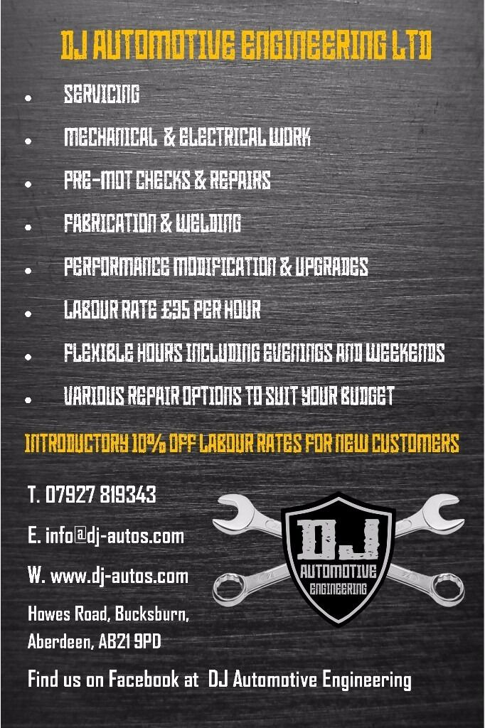 DJ Automotive Engineering. Reliable & good value mechanic