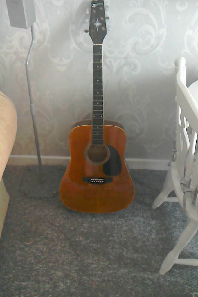 Brunswick acustic guitar.