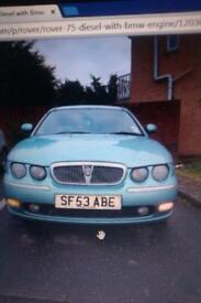ROVER 75 DIESEL ONLY 103,000 MILES BMW CHAIN DRIVEN ENGINE MOT FULL YEAR LOTS OF NEW PARTS