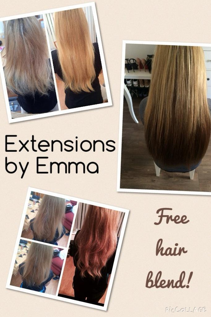 Mobile Hair Extensions Sewn In Only 10 Per Row Free Hair Blend