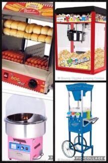 Fairy Floss, Snow cone, Popcorn & Hotdog machines from $69