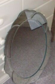 old oval mirror