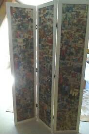 Freestanding wooden screen