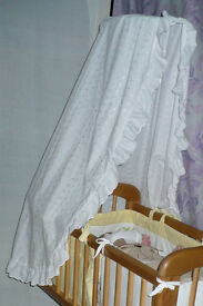 Embroidered crib/cot canopy/ drape (only). Excellent condition!