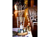 Wooden Centre piece - Wedding x 8