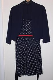 Quiz UK Size 10 Dress / Cropped Jacket