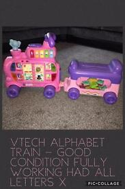 Vtech pink alphabet train great working order