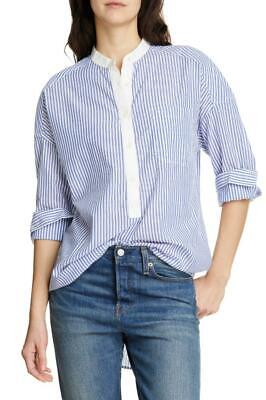 ALEX MILL Lisboa Blue Stripe Shirttail Cotton Tunic Size S