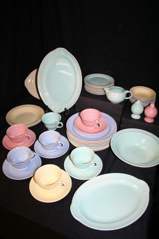 LU-RAY PASTEL DISHES LOT 45 Piece**Includes Serving Platters*Excellent Condition