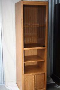 Faux Honey Oak Display Cabinet-Mint