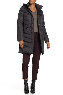 New with Tag-$250 MICHAEL Michael Kors Hooded Grey Down Midweight Coat Size S