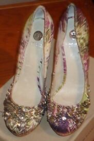 Ladies River Island heels_UK size 8_Used_Multi coloured