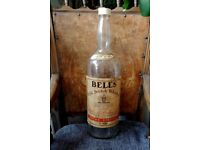 Huge Vintage Bell's Scotch Whisky 8 pints Bottle 51 cms Tall - Man Cave, Lamp, Piggy Bank £35 ono