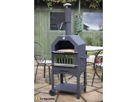 La Hacienda charcoal/woodburner BBQ, smoker, pizza oven (Inc. Pizza Stone) with wheels Patio Garden
