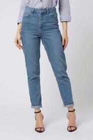 Topshop MOM jeans / size 10L / stone washed vintage colour