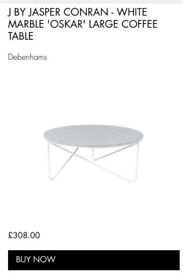 White Marble Coffee Table from Debenhams ( Cracked)