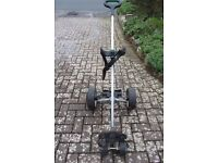 TWO electric golf trolleys, sold individually or together