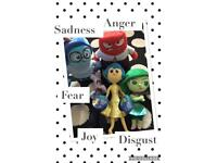 Inside Out plush toys x 5