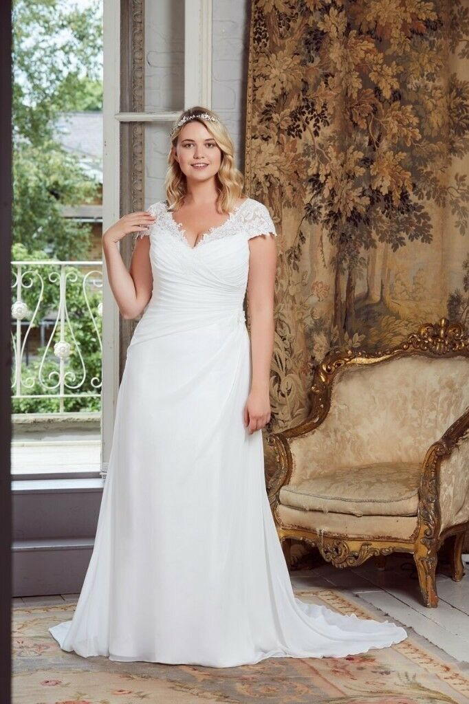 90ed025dc67 Plus size wedding dresses size 18 - 26 modern flattering styles to view or  try on phone 07919406466
