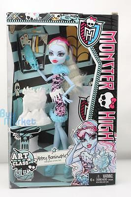 Monster High Mattel Doll Toys Set Art Class Abbey Bominable Daughter of the Yeti