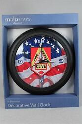 Clock By Mainstays Designed for 'Clive Iowa Fire & Rescue'  9 Diameter  NEW