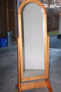 Full Length Knotty Pine Mirror