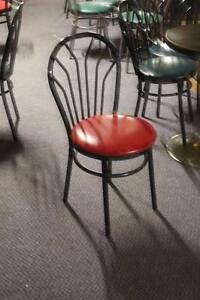 wood and metal chairs - 10.00 each