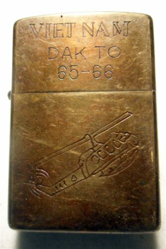 Vietnam War Zippo Lighter DAK TO 65 - 66 Vintage